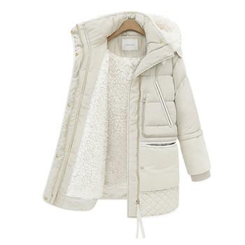 Γυναικείο χειμερινό μπουφάν με ζεστή φόδρα και τσέπες