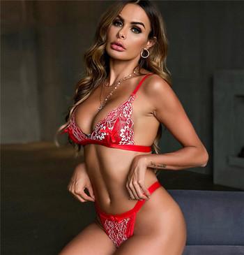 Γυναικεία εσώρουχα με κόκκινη δαντέλα